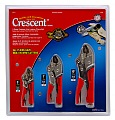 "Crescent CLP3SETC 3 PC-5"",7"",10"" Cushion Gripped Curved Jaw, Locking Pliers w/Wire Cutter"