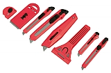 MIT 96909 8-pc. Snap-Off Knife & Scraper Set
