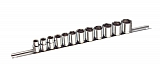 "MIT 1815 13-pc. 3/8"" Dr. Socket Set (MM)"