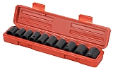 "MIT 4815 11-pc. 1/2"" Dr. Shallow Impact Socket Set (MM)"