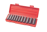 "MIT 4860 12-pc. 1/2"" Dr. Deep Impact Socket Set (MM)"