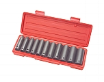 "MIT 4865 12-pc. 1/2"" Dr. Deep Impact Socket Set (SAE)"