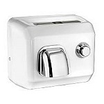 American Dryer DR10NF Steel White Hand Dryer, Push Button, Fixed Nozzle, 1725 Watts