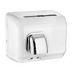 American Dryer DR20NHF Steel White Hand Dryer, Automatic, Fixed Nozzle, 80 Sec Hair Cycle, 2300 Watts