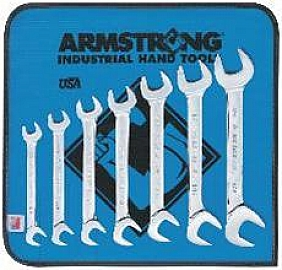Armstrong 27-885 7 Pc Full Polish 15 Deg and 60 Deg Angle Wrench Set