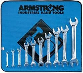Armstrong 53-273 10 Pc Metric Full Polish Open End Wrench Set