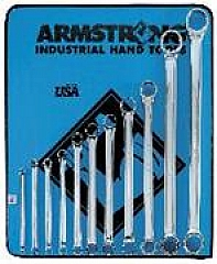 Armstrong Tools Armstrong 53-845 11 Pc 12 Point Metric Full Polish 15 Deg Offset Box Wrench Set