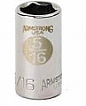 "Armstrong 10-004 Socket 1/4"" Drive 6 Point 1/8"