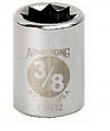 "Armstrong 11-409 Socket 3/8"" Drive 8 Point 9/32"
