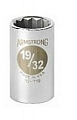 "Armstrong 12-138 Socket 1/2"" Drive 12 Point 1-3/16"