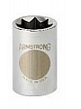 "Armstrong 12-418 Socket 1/2"" Drive 8 Point 9/16"