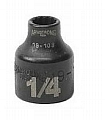 "Armstrong 19-108 Socket 3/8"" Drive 12 Point 1/4, Black"