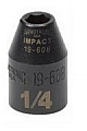 "Armstrong 19-608 Impact Socket 3/8"" Drive 6 Point 1/4"