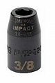 "Armstrong 20-014 Impact Socket 1/2"" Drive 6 Point 7/16"