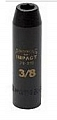 "Armstrong 20-212 Impact Socket, Deep, 1/2"" Drive 6 Point 3/8"