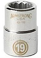 Armstrong 40-119 Socket 3/4 Drive 12 Point 19MM