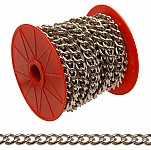 Campbell 0712027 #200 Hobby/Craft Twist Chain, Nickel Plated, 49' per Reel