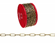 Campbell 0714017 #40 Hobby/Craft Dimpled Decorator Chain, Brass Plated, 197' per Reel