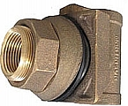 "Campbell Mfg DT-10X 1"" Drain&Wire Fitting,5-9/16-7"