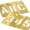 CH Hanson 10068 1'' Brass Interlocking Stencils Letters & Numbers, 45 Piece Set