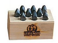 """CH Hanson 21830 Number Set, Rhino Steel Stamps, 1/8"""" Character"""
