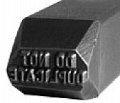 "CH Hanson 26990 Do Not Duplicate (1/16"" Character) Stamp"