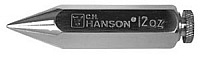CH Hanson 45912 Plumb Bob 12 Oz Nickel Plated Plumb Bob