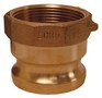 "Dixon 100-A-BR 1"" Brass Male Adapter x Female NPT"