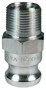 "Dixon 100-F-AL 1"" Alum Male Adapter x Male NPT"