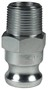 "Dixon 100-F-PM 1"" Plated Iron Male Adapter x"
