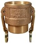 "Dixon 100-B-BR 1"" Brass Female Coupler x Male NPT"