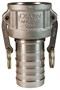 "Dixon 100-C-SS 1"" Stainless Female Coupler x Hose"