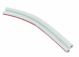 "Dwyer A-225 Flexible double column plastic tubing, lt grey, w/ red color code stripe, 1/8"" ID, lengt"
