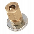 """Dwyer A-307 Static pressure fitting, for 1/4"""" metal tubing connection"""
