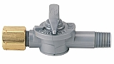 "Dwyer A-310B 3-way vent valve, plastic, 1/8"" NPT to 1/4"" metal tubing, 10 psi rating"