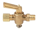 "Dwyer A-312 Shut off valve, brass, 1/8"" NPT to 1/4"" metal tubing"