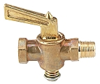 "Dwyer A-311 Shut off valve, brass, 1/8"" NPT to 1/8"" NPT"