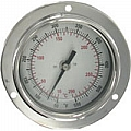 "Dwyer BTPM240101 Panel mount bimetal stem thermometer, range 0 to 200DegF, 4"" stem"
