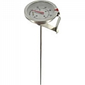 "Dwyer CBT1750101 Clip-on bimetal thermometer, range 0 to 180DegF, 5"" stem, 1-3/4"" Dial"