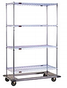 """Eagle Group DT1860-CSP 18"""" x 60"""" chrome, dolly truck with poly swivel casters at Sears.com"""