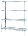 "Eagle Group S4-63-2124C Chrome Four-Shelf Starter Unit, 21"" W x 24"" L x 63 H"