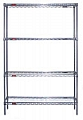 "Eagle Group S4-63-2124V Valu-Master gray epoxy Four-Shelf Starter Unit, 21"" W x 24"" L x 63 H"