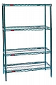"Eagle Group S4-74-1824VG Valu-Gard green epoxy Four-Shelf Starter Unit, 18"" W x 24"" L x 74 H"