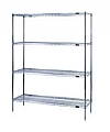 "Eagle Group S4-74-2124C Chrome Four-Shelf Starter Unit, 21"" W x 24"" L x 74 H"