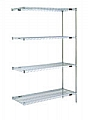 "Eagle Group A4-63-1824Z EAGLEbrite Zinc Four-Shelf Add-on Unit, 18"" W x 24"" L x 63 H"