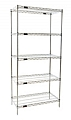 "Eagle Group S5-74-1824Z EAGLEbrite Zinc Five-Shelf Starter Unit, 18"" W x 24"" L x 74 H"