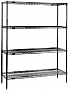"Eagle Group 1836C63 18"" x 36"" chrome 4-shelf unit with 63"" height, redipak wire"