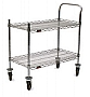 "Eagle Group U2-1836C-RP 18"" x 36"" RediPak 2-shelf cart, includes one handle, two"
