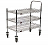 "Eagle Group U3-1836C-RP 18"" x 36"" RediPak 3-shelf cart, includes one handle, two"