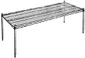 "Eagle Group PF2136-C 21"" x 36"" chrome platform."